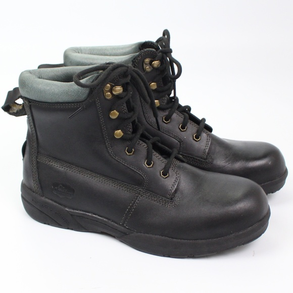 Protector Black Steel Toe Work Boots
